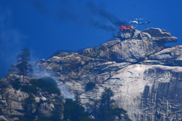 The Needles lookout in flames :-(