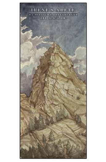 Irene's Arete by Jeremy Collins, featured in Alpinist Summer 2006