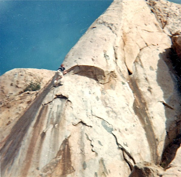 "Keith - Big Rock on the ""Nose"" 1966.  The ""Sickle"" went up the dark st..."