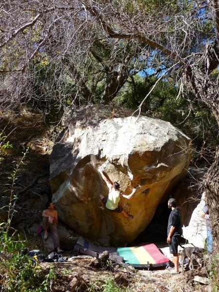 Weston Ureda on Black Fly Hell, Temporal Boulders N. LA County