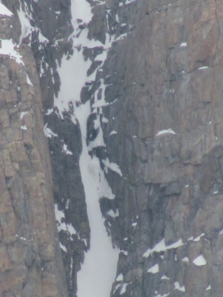 Close up of line in the second picture.  You can see some nice ice com...