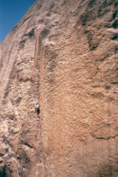 As good as it gets! Kris Solem climbing on The Cobra, Gorge of Despair...