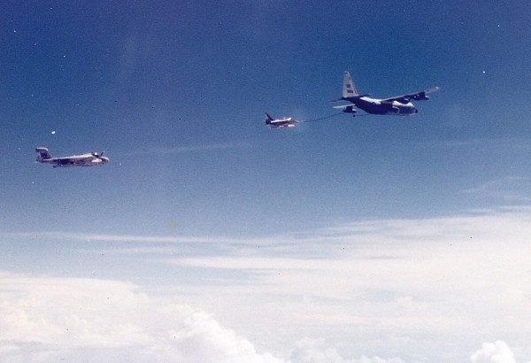 Air Refueling over New Guinea