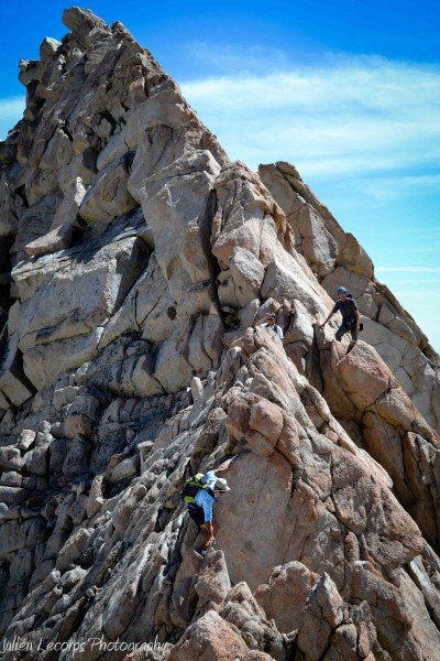 The final section of the lower ridge was the most airy, with several s...