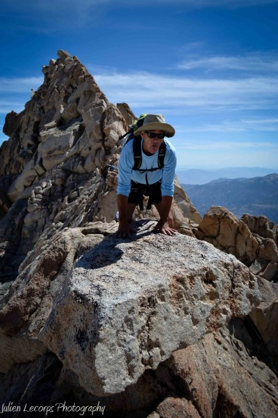 This big rock was balancing on the ridge, with massive dropoff on each...
