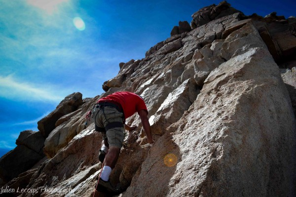 Final pitch to the summit on excellent rock.