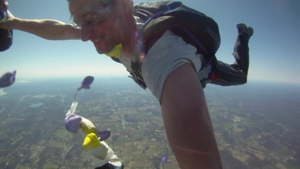 Jump number 200.  Easter 2010.  Peeps in yo face!