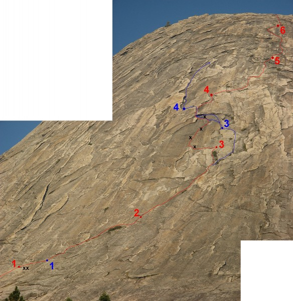 Mt. Starr King - West Face - detailed overlay