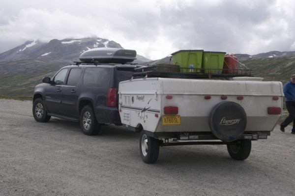 This trailer was pulled up to Dawson city in the Yukon by a toyota -- ...