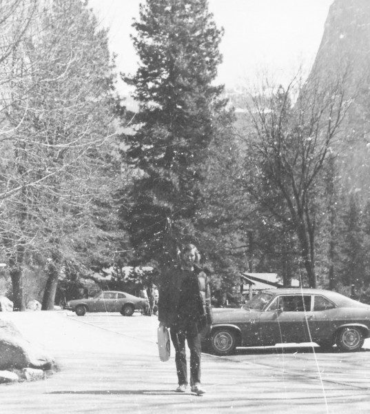 Cowboy Larry in the winter of '71. (Degnan's parking lot)