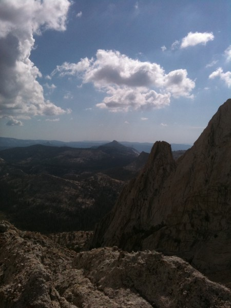 View of High Sierra from one of the Echo Summits