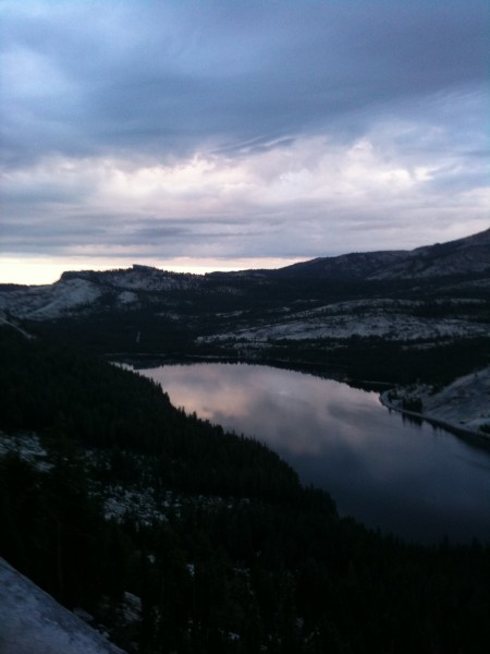 Early morning view of Tenaya Lake