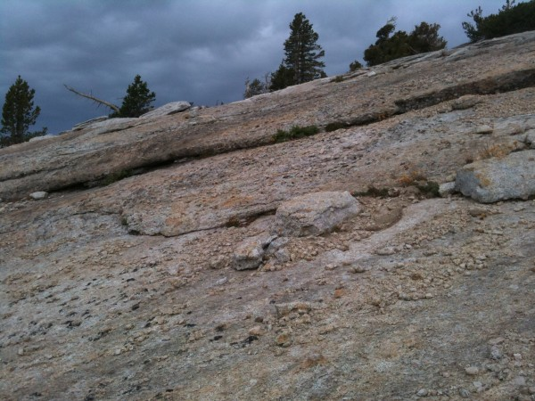 Tuolumne texture, you never know which knob is attached and which is s...