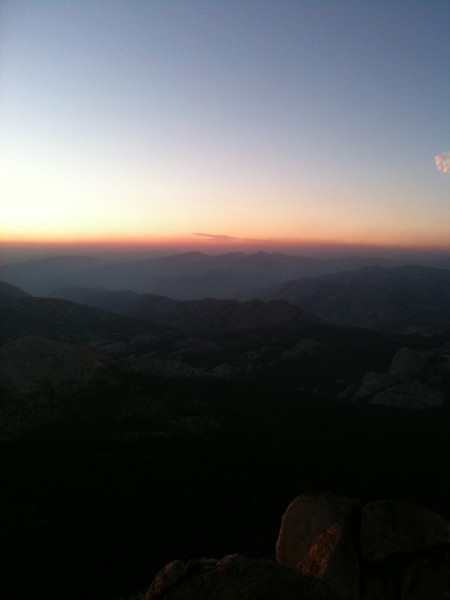Sunset on top of Cathedral Peak