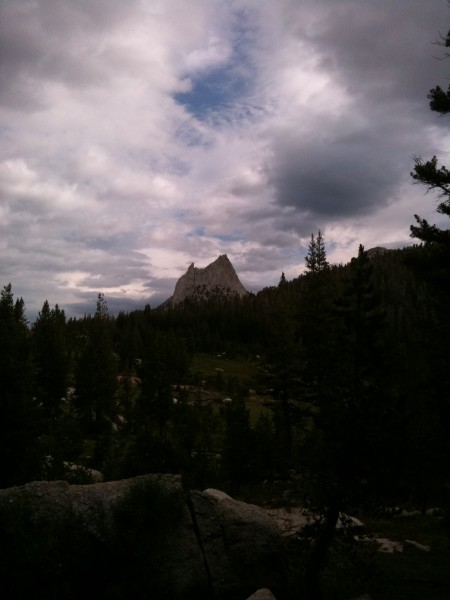 Cathedral from somewhere in between Tenaya Peak and Matthes