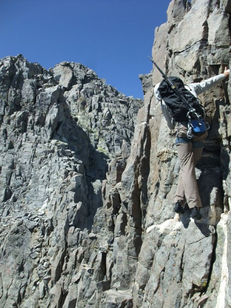 Mike on Sun Ribbon (Temple/Galey/Sill traverse)