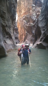 Christina and I in the Narrows, Zion NP