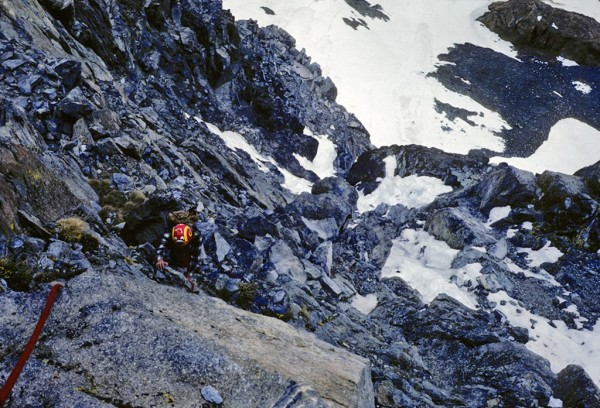 First ascent, north rib of Mt Dana 5/24/82