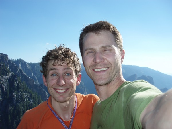 Luke and Jonathan on the summit of Sentinel Rock!