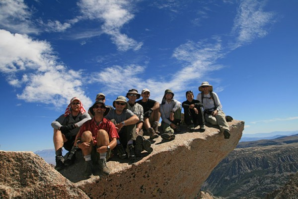 A heap of 2011 Sierra Challengers on the summit of Tom Ross