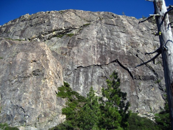 Candy Land area.  Two routes on the big boulder on the left in front o...