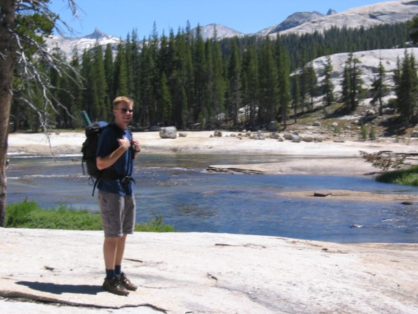 Eric on the Tuolumne River