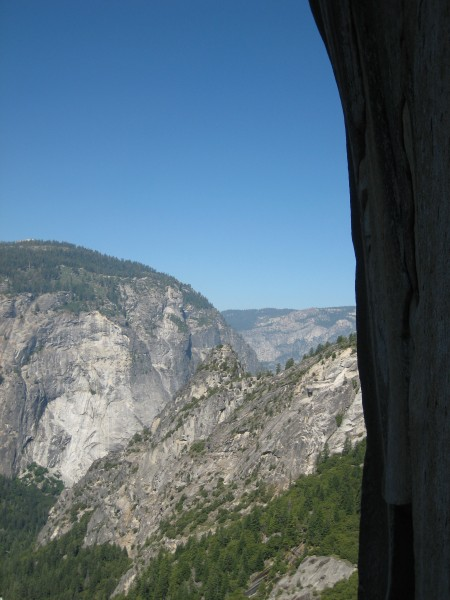 Looking toward Glacier Point from the p4 belay