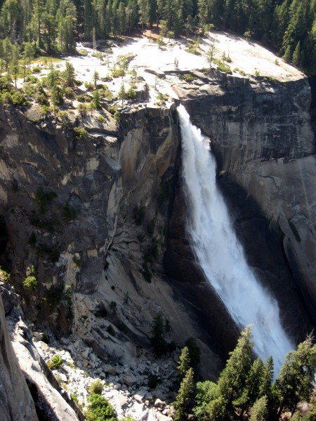 Nevada Falls as seen from p5