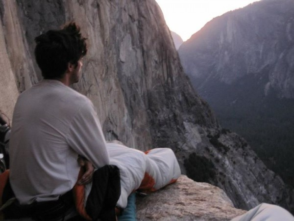 Rise and shine in the AM on El Cap tower