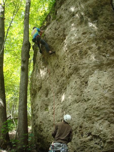 Alan climbing Wild Iowa (5.11b)