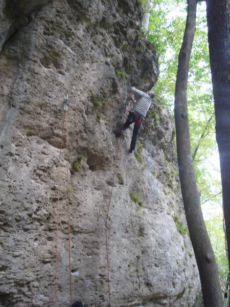 Ron climbing Virgin Lemonade (5.10a)