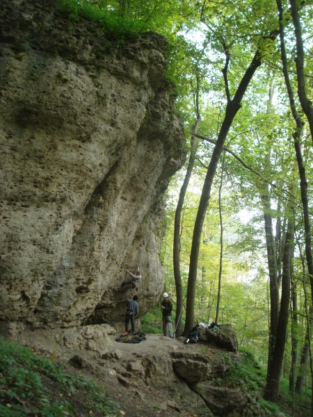 Wild Iowa wall at Pictured Rocks county park in Jones County Iowa.