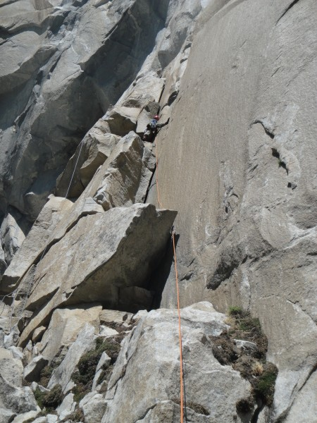 Leading Gollum, Right (5.8) to establish a top-rope for Gollum, Left (...