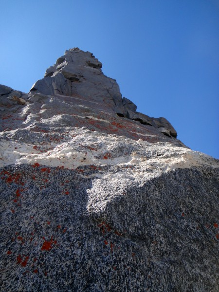 Upper Ibrium Tower at the first white band.