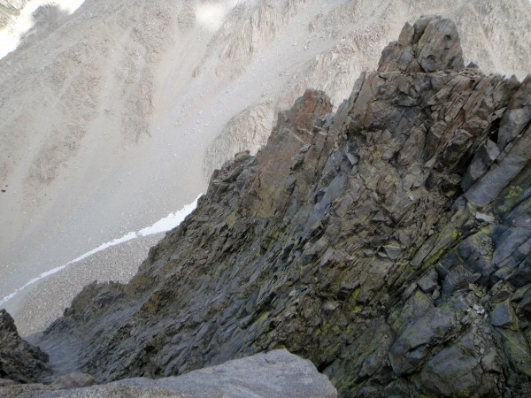 Tomorrow's objective - Venusian Blind Arete - seen from the end of Moo...