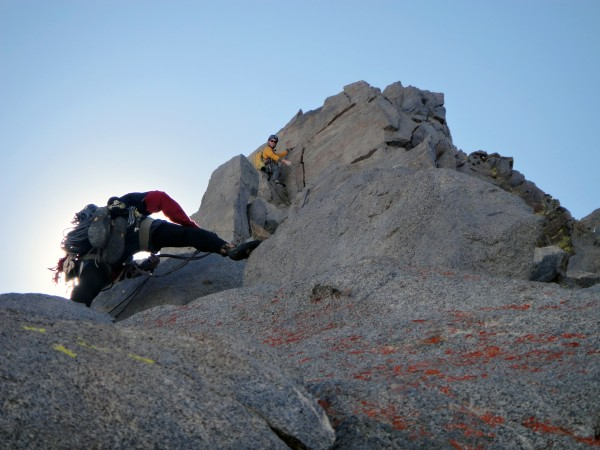 Simul-climbers on P9 & P10 of VBA, the best 5.7 pitches of the route.