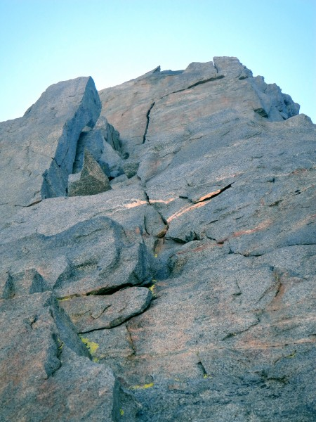Pitches 9 & 10 of Venusian Blind Arete. I thought the pointy rock to t...