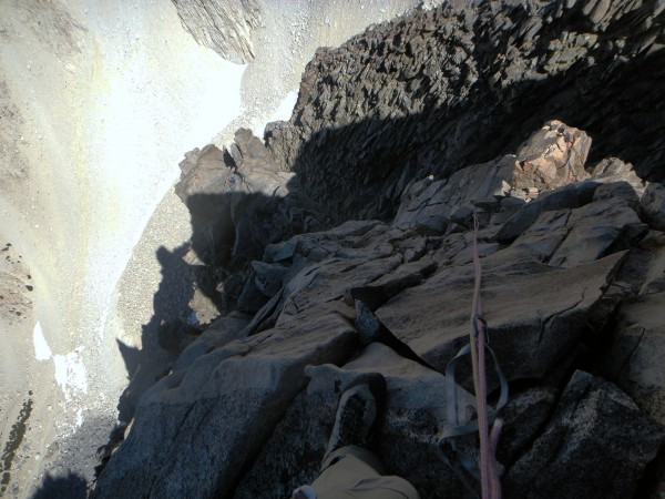 Looking down the linked P11 & P12 of VBA. Can you see Chris belaying?