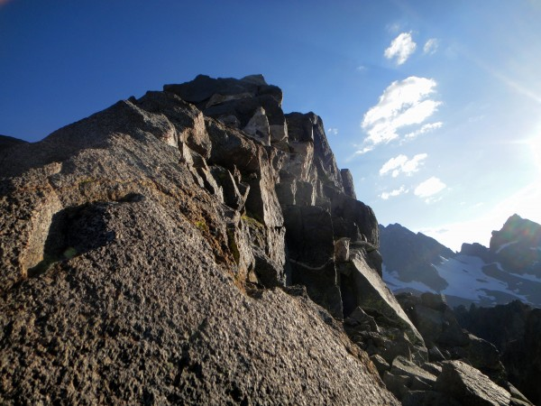 The final exposed ridge to the summit of Temple Crag.