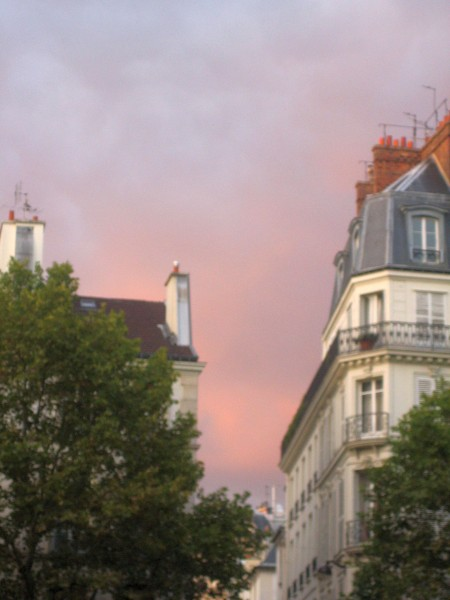 Sunset over Saint-Germain