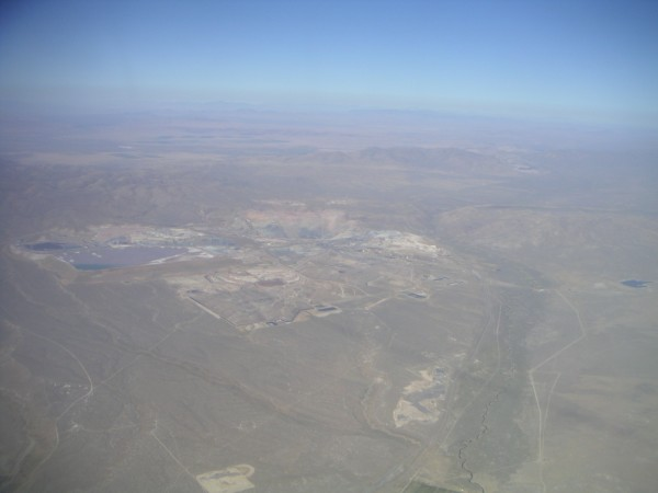 huge mine, tailings pond and tailings pile