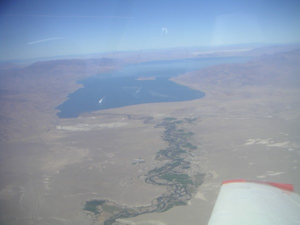 Pyramid Lake and Anaho Island where the Pelicans and Cormorants breed