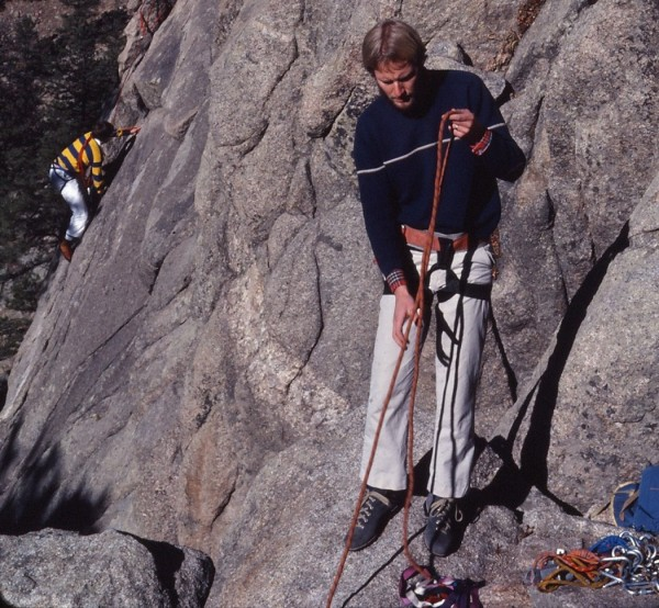 Gray shoes, Robertson harness, hexes and 150 ft rope...yeehaahh!!!
