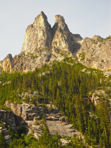 Early Winter Spires. South Arete on left skyline   Fall 2011