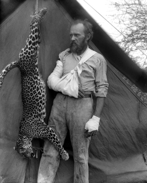 Carl E Akeley, whos hero was John Muir..With his HAND KILLED Leopard i...