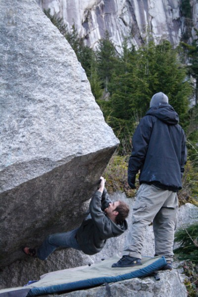 My buddy Will on some bolder problem i can't remember. The Infamous lu...