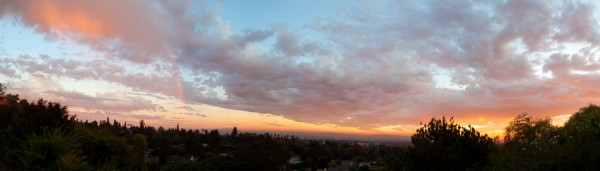 From my front porch in Monrovia, CA. 9/30/11