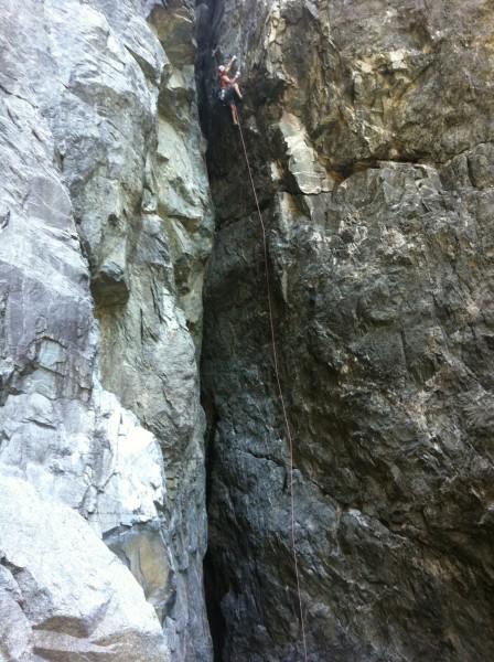 Hansi Standtheiner on Five Minute Hero .12-, Emeralds Gorge (upper)