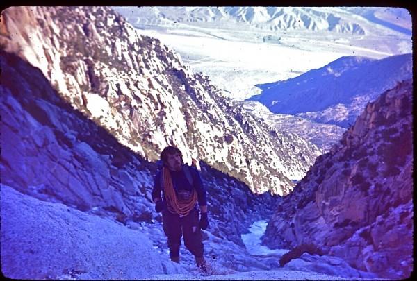 Paul Gleason on Snow Creek,  San Jacinto  1973