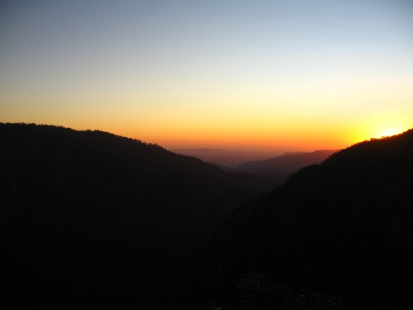 Sunset from Thanksgiving Ledge